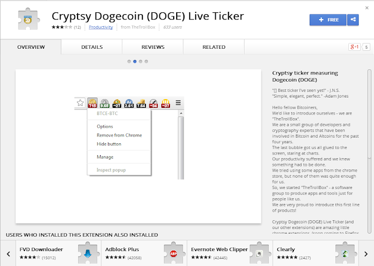 Malicious Chrome Browser Extension Hijacks CryptoCurrency and Online Wallets