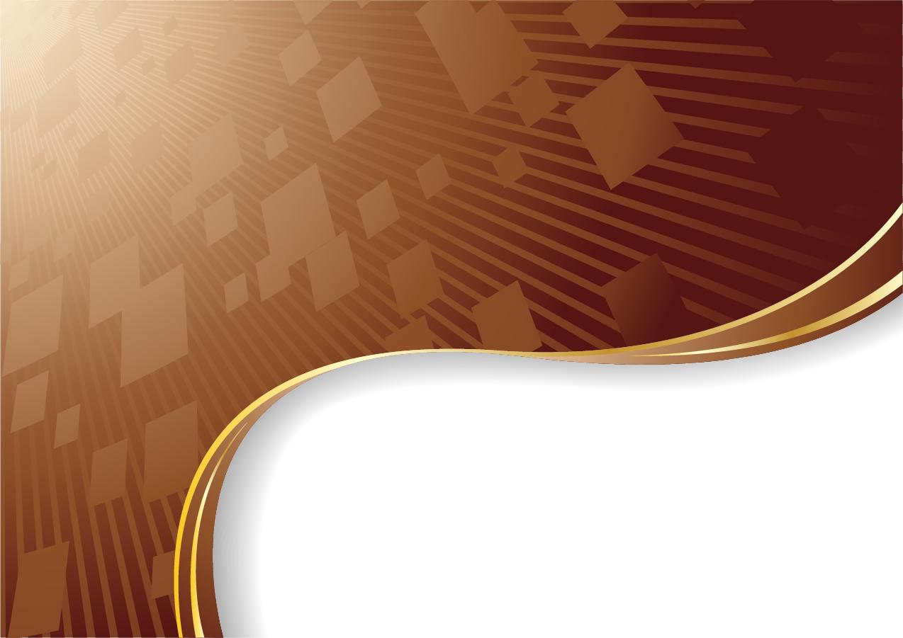 チョコレート色の曲線が美しい背景 chocolate dynamic lines of the background イラスト素材