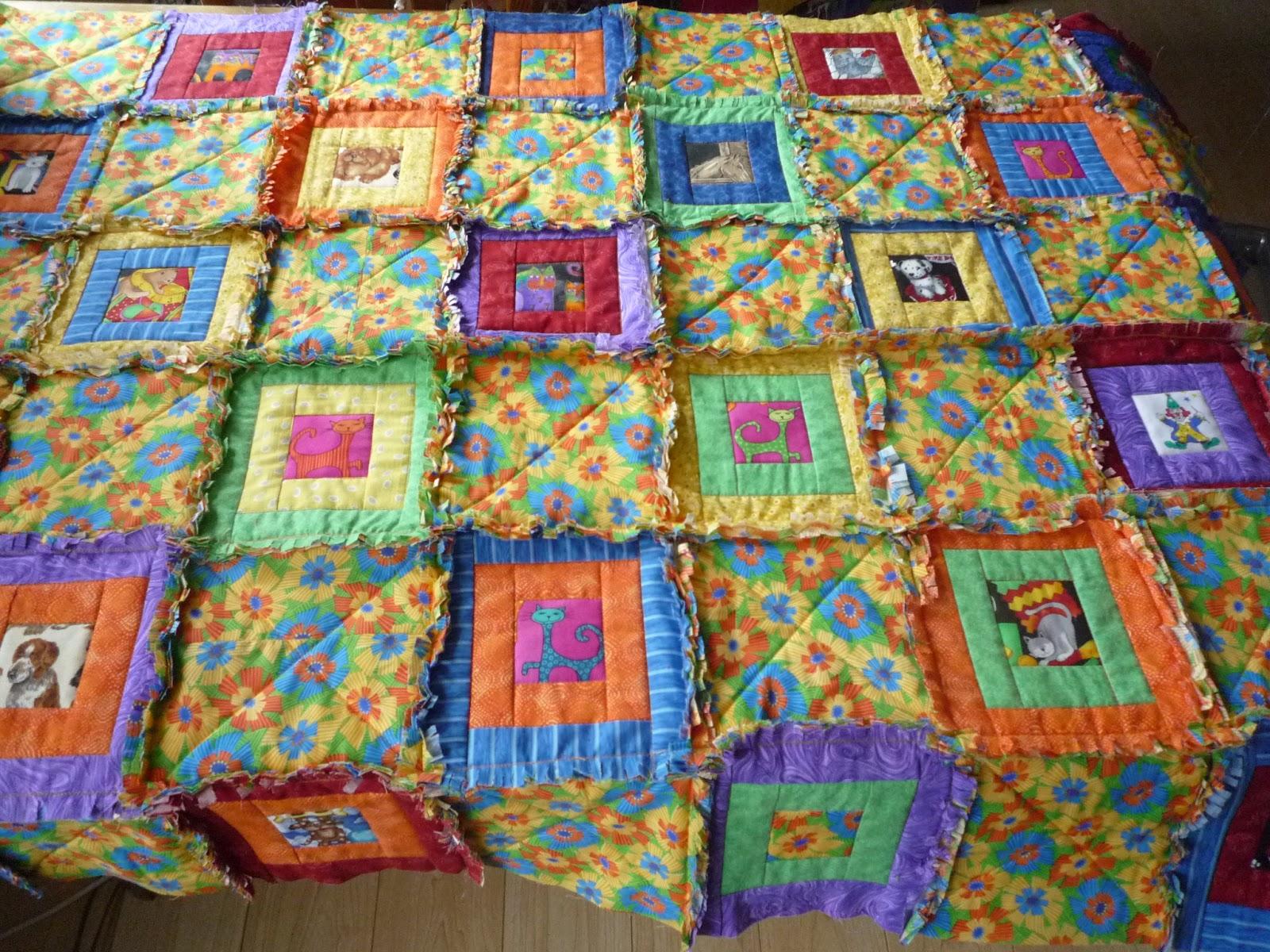 De meerquilters instructie rag time quilt for Quilt maken met naaimachine