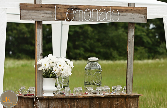 Chasing rainbows kissing frogs luscious lemonade stand for Rustic lemonade stand