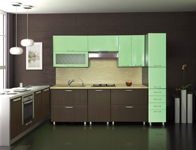 кухня цвета мяты