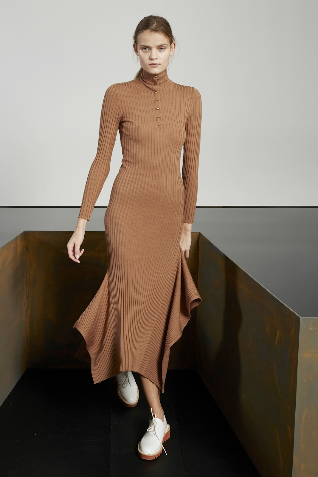 via fashioned by love | Stella McCartney Pre-Fall 2015 | camel trends | 2015