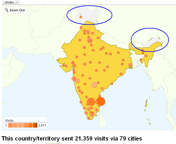 ... disputed area in Google Analytics India Map |QualityPoint Technologies