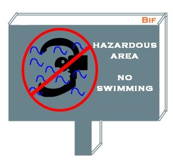 yang berwewenang saja yang boleh masuk dangerous area no swimming