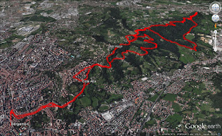 Hike overview. Start and end was in Bergamo