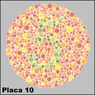 Teste de Ishihara - Placa número 10