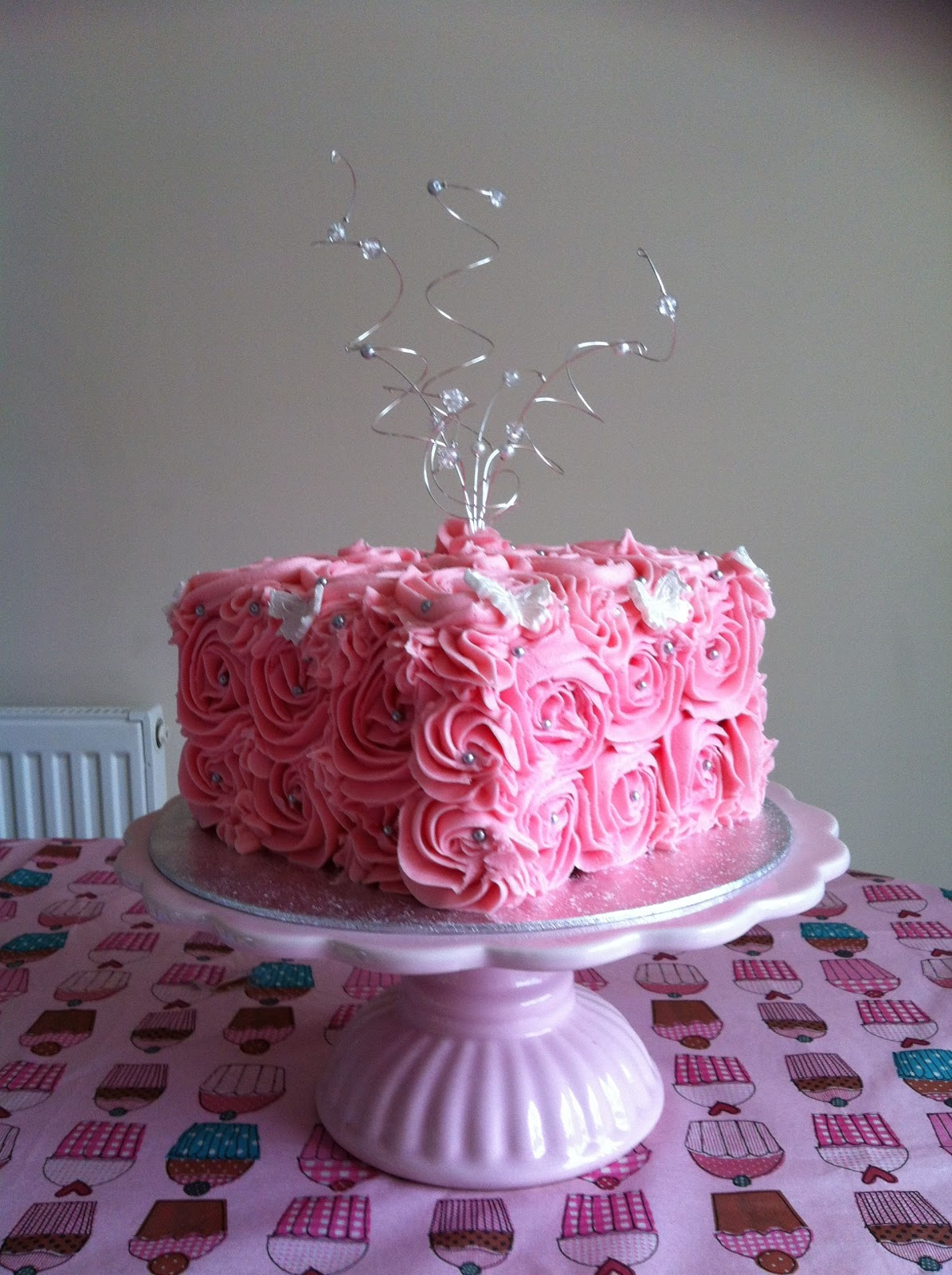 Birthday Cake Ideas Using Buttercream : Victory Rolls & Mixing Bowls: Rose Swirl Buttercream ...