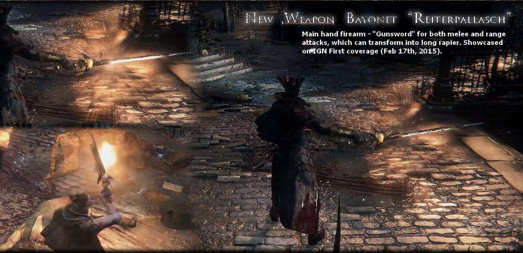 Bloodborne New Weapon Gunsword
