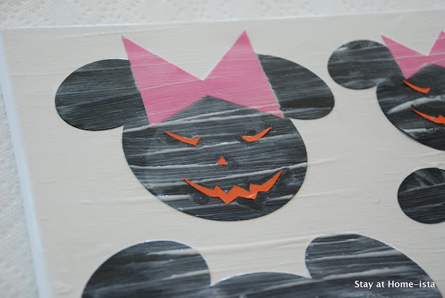 Halloween Mickey Mouse crafting