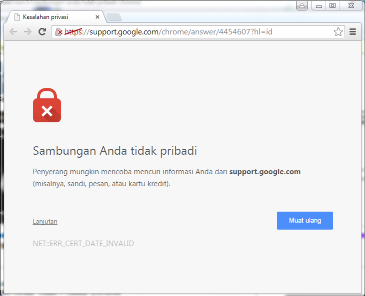 Mengatasi Sambungan Anda Tidak Pribadi di Chrome & Firefox
