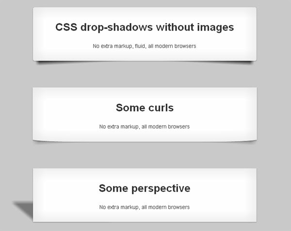 CSS drop-shadows without images