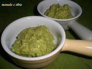 la ricetta del guacamole ai piselli