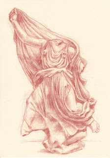 Nereid Monument British Museum red chalk drawing
