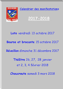 Calendrier des manifestations 2017-2018