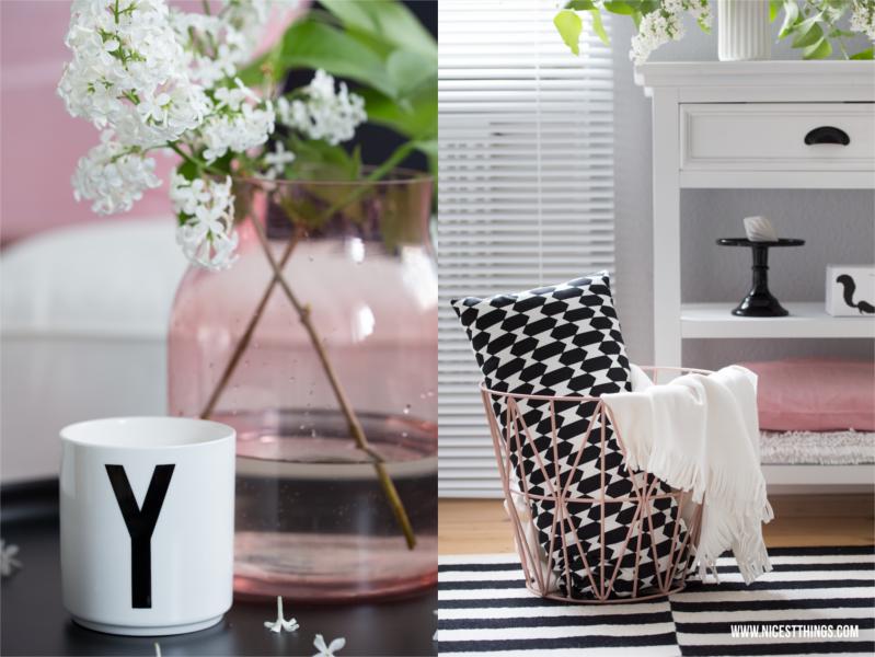 Wohnzimmer In Schwarz Weiß Mit Akzenten In Rosé Design Inspirations
