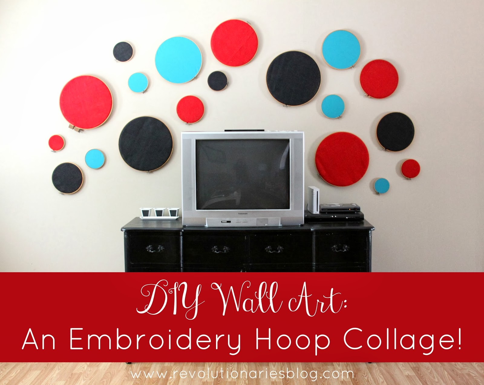 DIY Wall Art: An Embroidery Hoop Collage