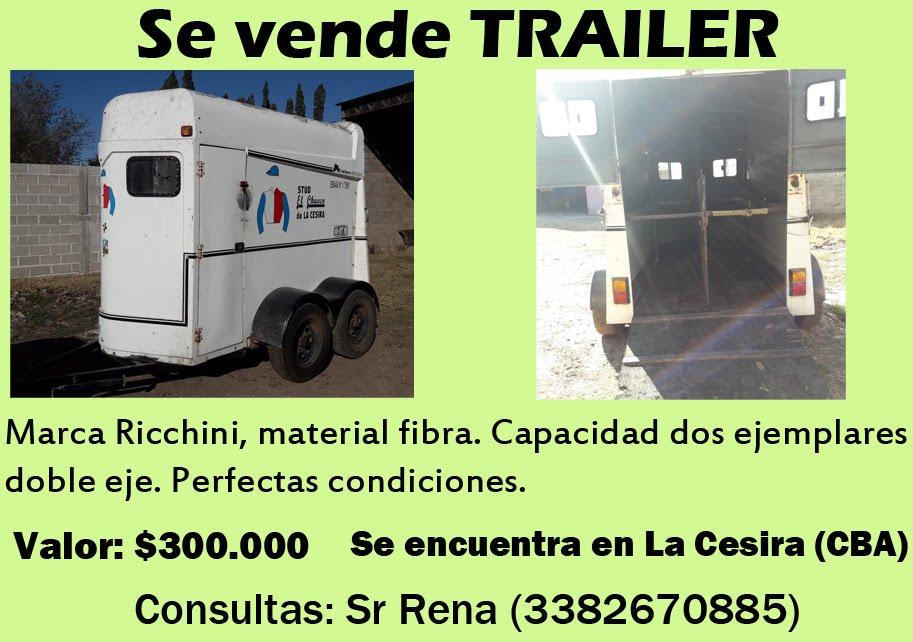 VENTA TRAILER - PEREYRA
