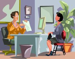 scène de bureau (dessin)