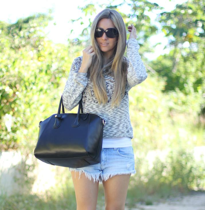 Jersey jaspeado Bershka blog de moda Mes Voyages à Paris 2