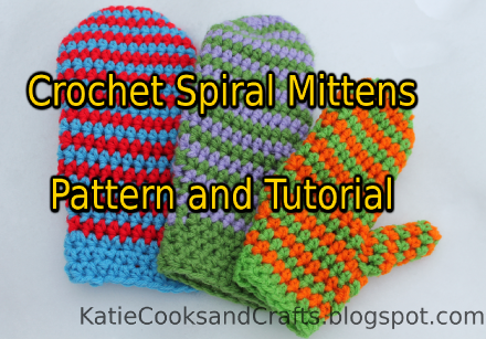 Katie Cooks And Crafts Spiral Mittens Pattern And Tutorial