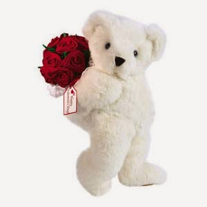 Red Rose & Big Teddy flowers delivery in Cyprus