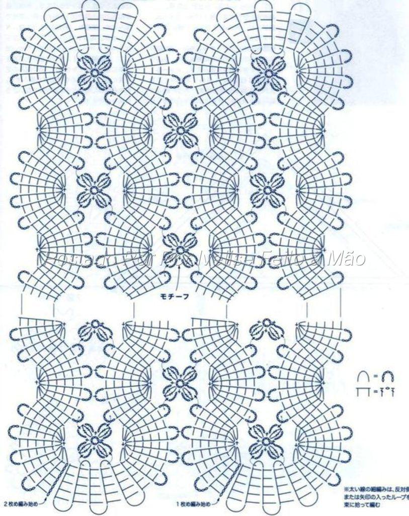 Crochet Lace Patterns Diagram : stole - Bruges Lace - diagram 2 Crochet- Bruges ...