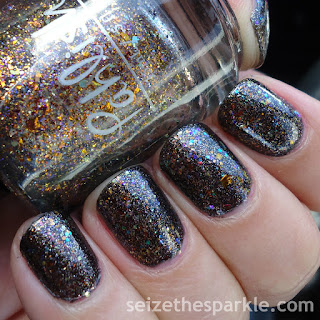 Pahlish Autumn People and Zoya Binx over Hard Candy Wicked