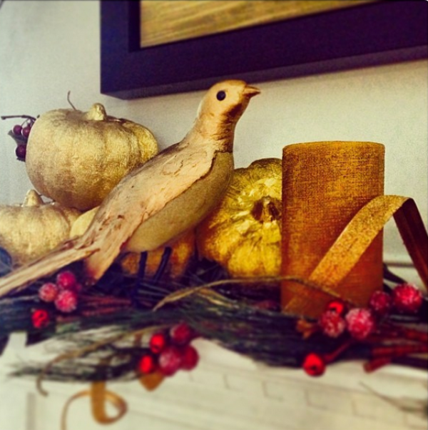 Red & Gold Holiday Decor #christmas #decor #holiday #home #gold