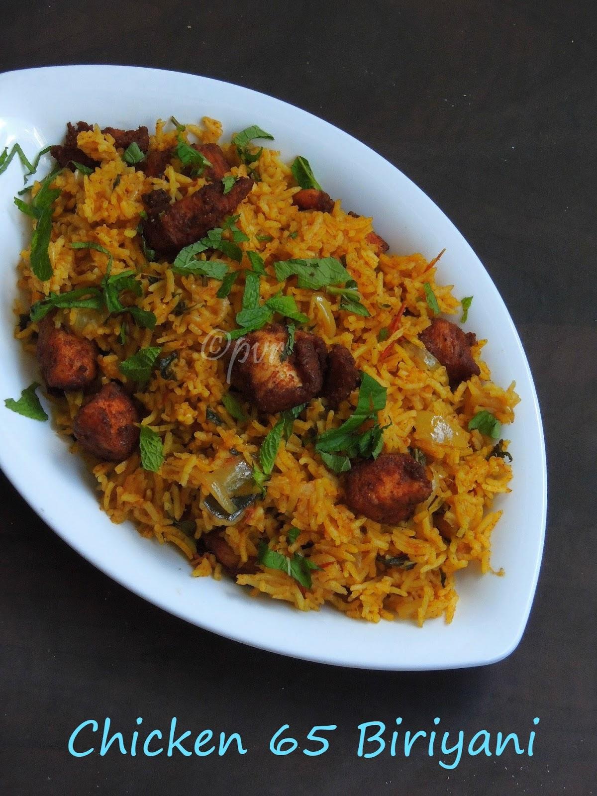 how to make chicken 65 biryani