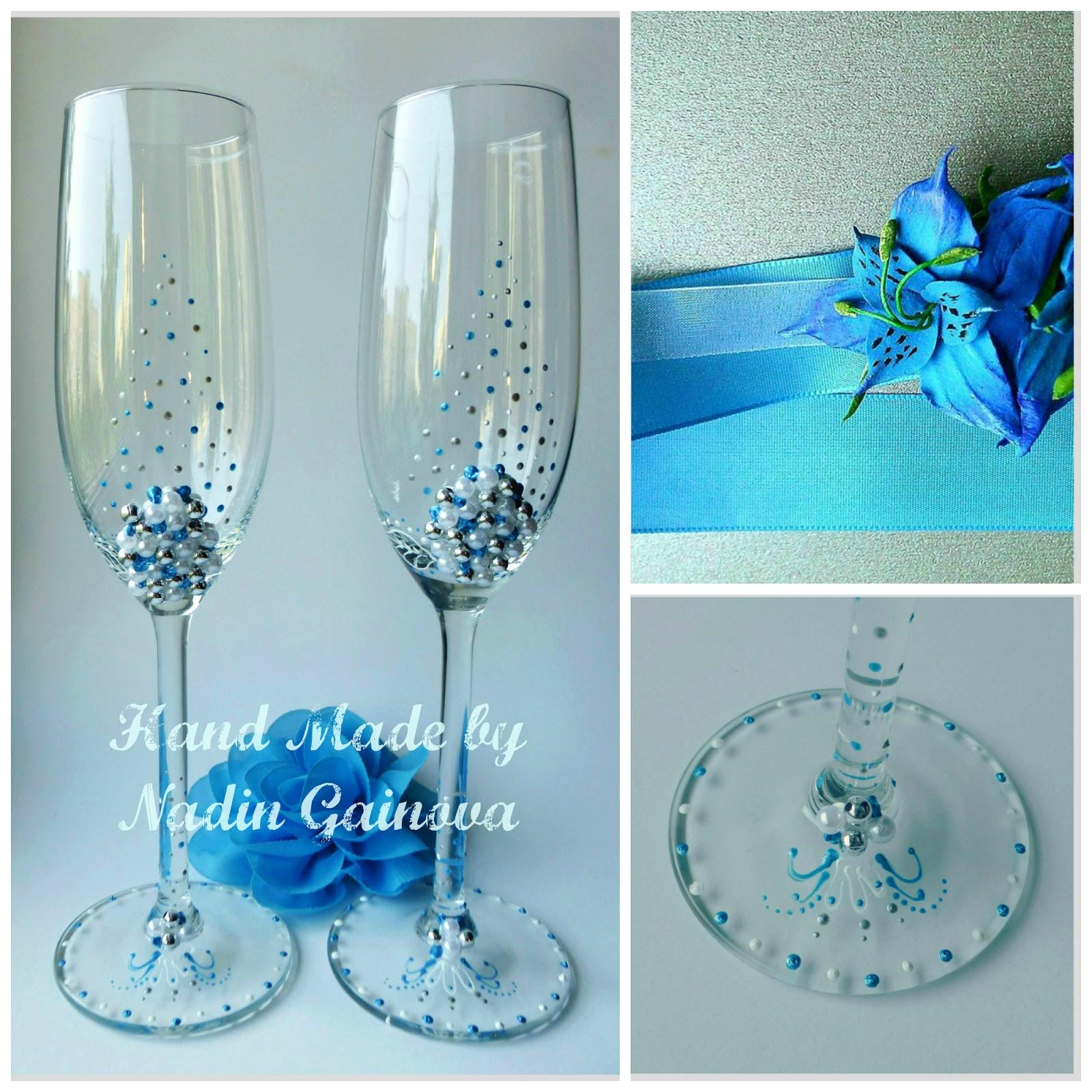 Красивые бокалы для свадьбы