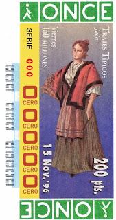 Traje típico de Jaén - Mujer - Cupones ONCE 1996