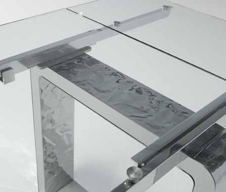 Domus arredi mito da riflessi un tavolo allungabile in cristallo e acciaio - Riflessi mobili ...