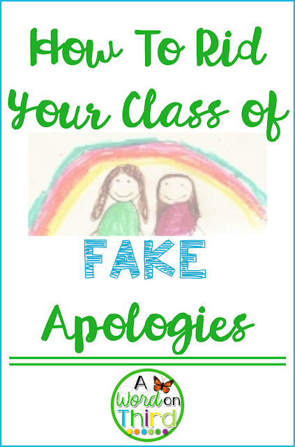 A Word On Third: How To Rid Your Class of Fake Apologies