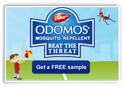 Get a free sample of Dabur Odomos Mosquito Repellent