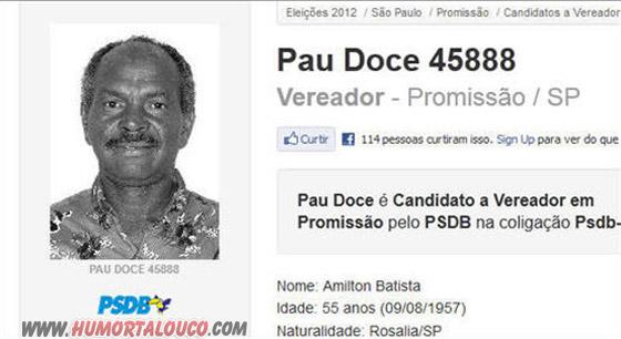 Candidatos Bizarros das eleições 2012 [Parte 03] - Pau doce 45888