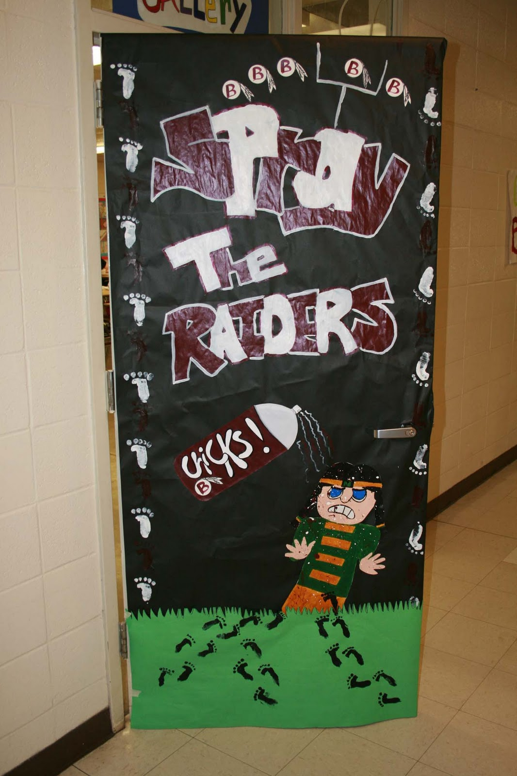 Time for homecoming for Art room door decoration