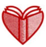 De corazones y bibliotecas kanpainako logoa