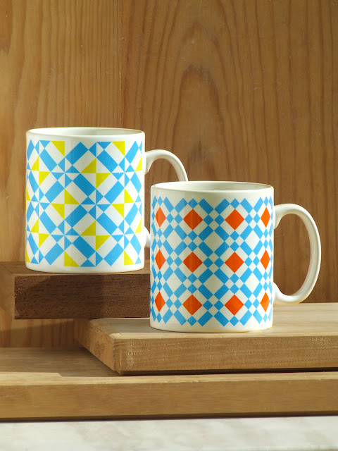 Azulejo Tile Coffee Mugs Set by Alfamarama