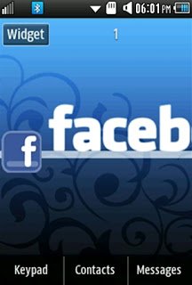 General Facebook Samsung Corby 2 Theme Wallpaper
