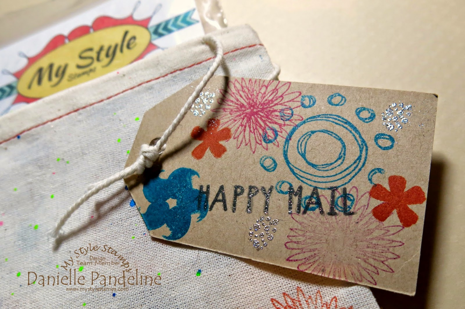 Custom Muslin Bag | Featuring My Style Stamps | Created by Danielle Pandeline