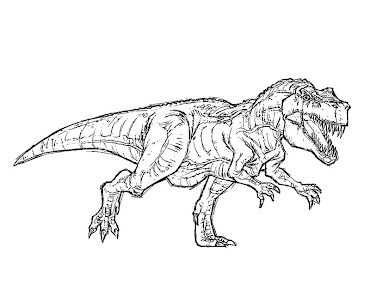 #4 Jurassic Park Coloring Page