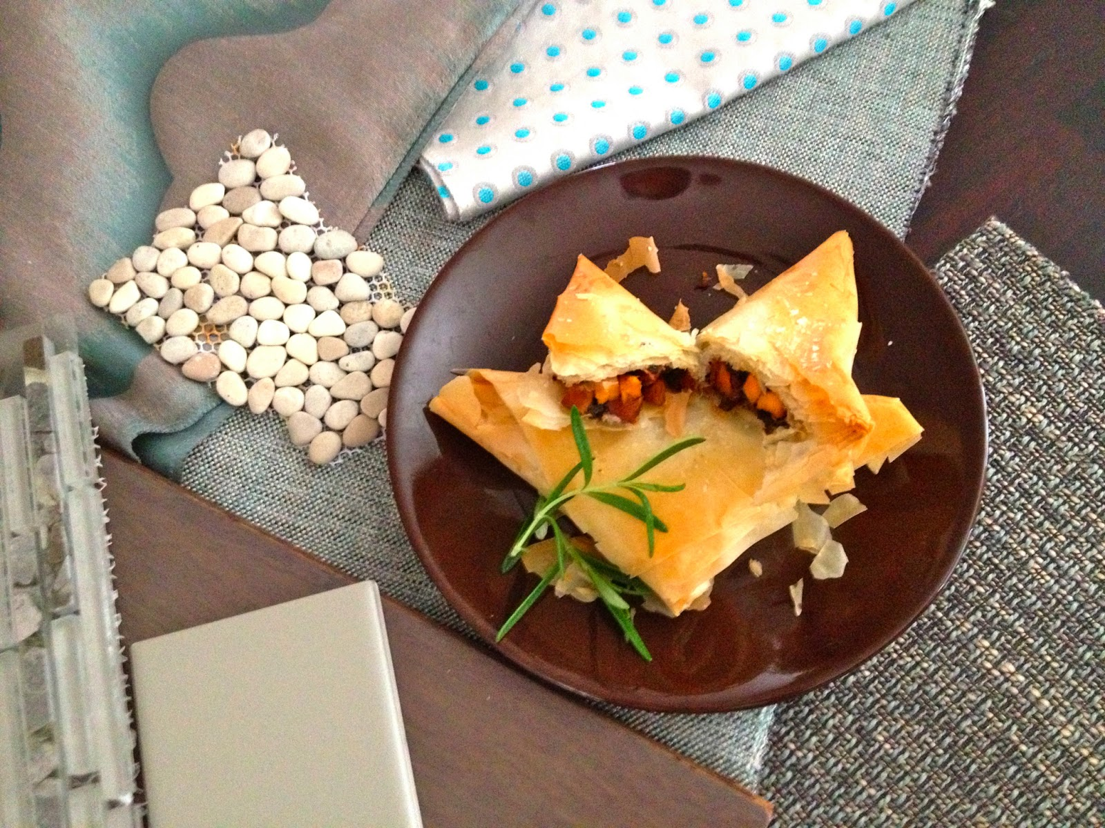 Wasatch Mountain Chef: Balsamic Vegetable Phyllo Triangles