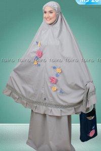 Faira Mukena MS 26 - Abu Muda (Toko Jilbab dan Busana Muslimah Terbaru)