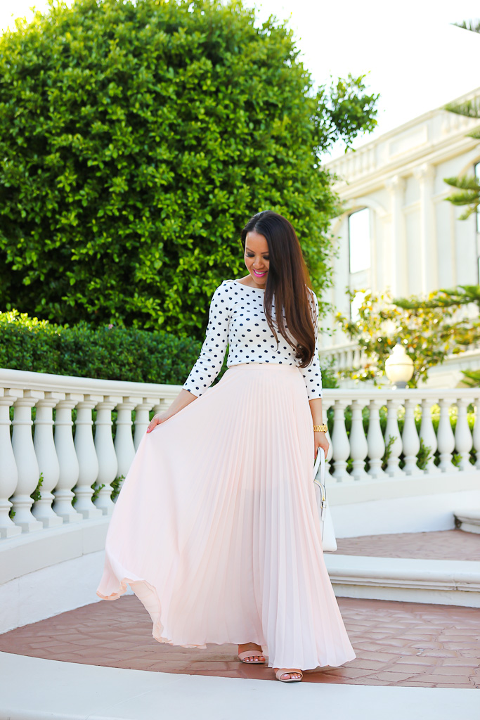 How To Wear A Maxi Skirt When You're Petite | Stylish Petite