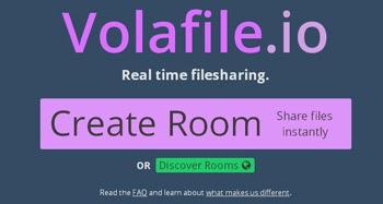 Transfiere archivos usando Volafile gratis