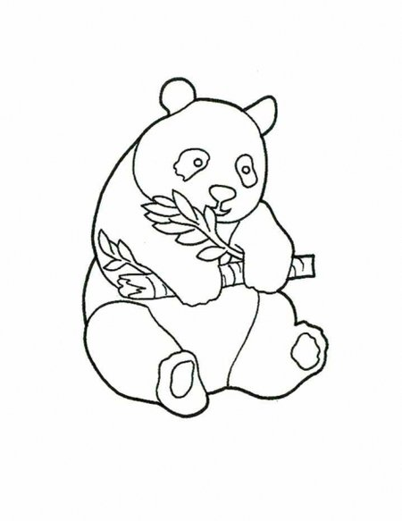 Cute Baby Panda Coloring Pages for Kids title=