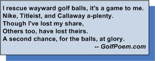 golf poem find lost golf balls