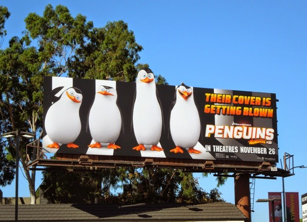 Penguins of Madagascar movie billboard