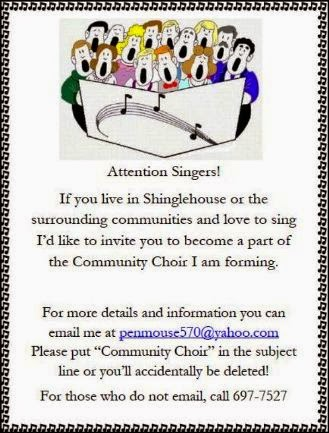 8-2014 Community Choir Forming