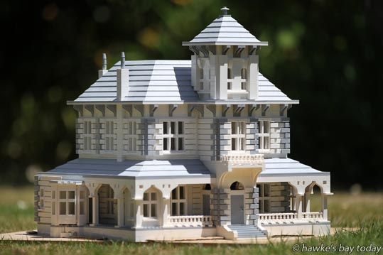 Napier man Richard Catley built a LEGO replica of Duart House in Havelock North. photograph